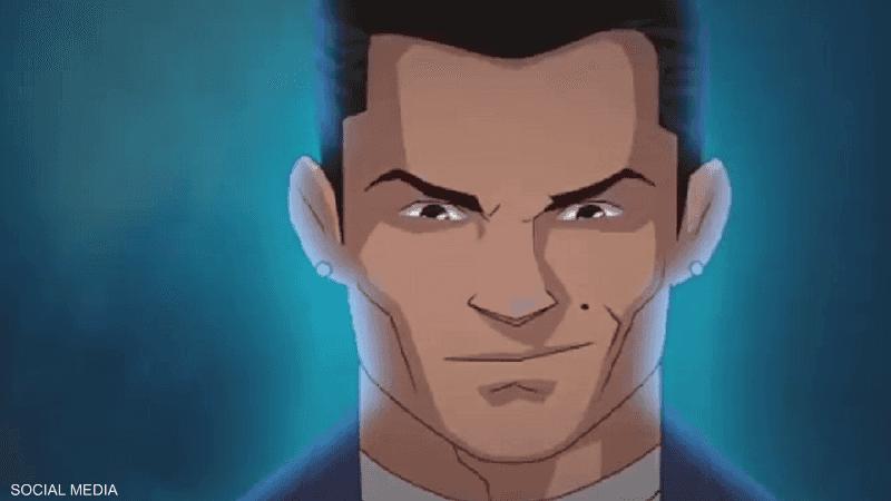 رونالدو بطل كرتوني يحارب الوحوش الفضائية