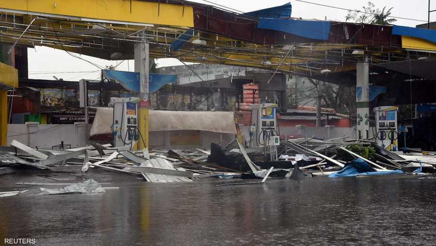 """ضرب الإعصار """"فاني"""" أوديشا مصحوبا برياح وصلت سرعتها إلى 200 كيلومتر في الساعة."""