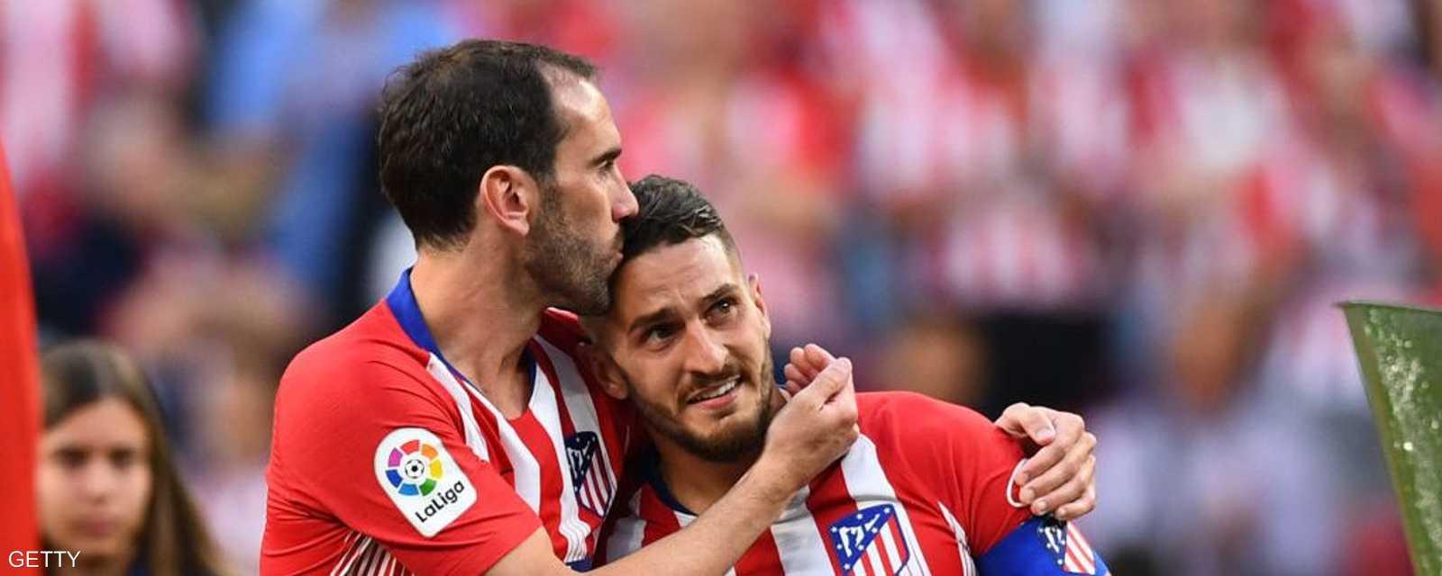 كوكي ودع زميله غودين للمرة الأخيرة بقميص أتلتيكو مدريد