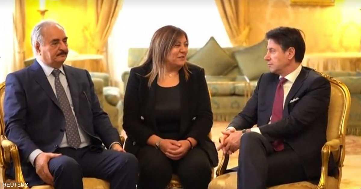 حفتر يزور إيطاليا ويجتمع برئيس الوزراء