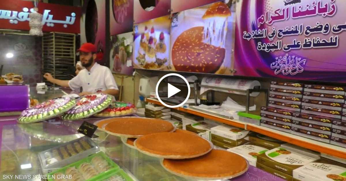 حلوى الناعم تزين المائدة الرمضانية في سوريا