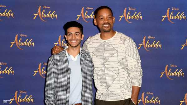 مسعود مع الممثل ويل سميث