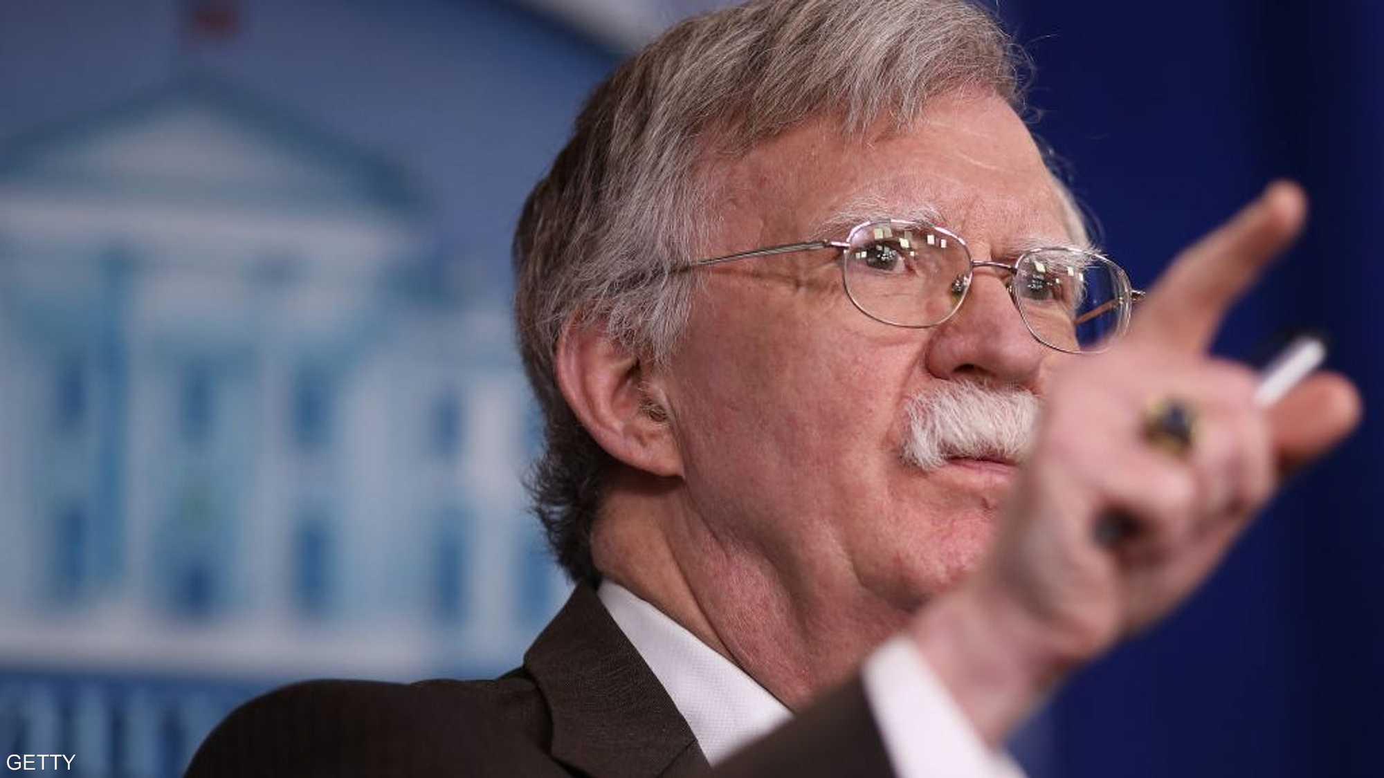 بولتون: أنشطة إيران ستقابل برد قوي جدا
