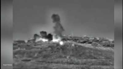 قصف موقع سوري في ريف القنيطرة. أرشيفية