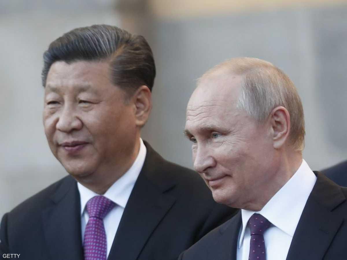 الرئيس الصيني مع نظيره الروسي
