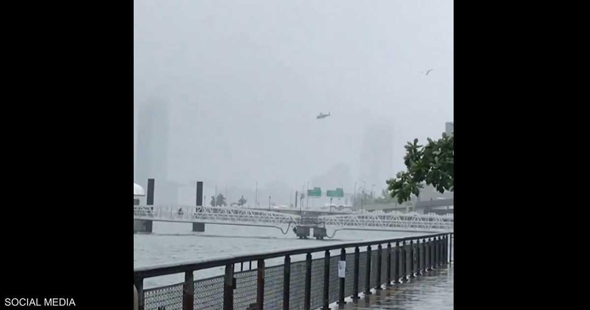 كارثة نيويورك.. فيديو اللحظات الأخيرة قبل السقوط المروع