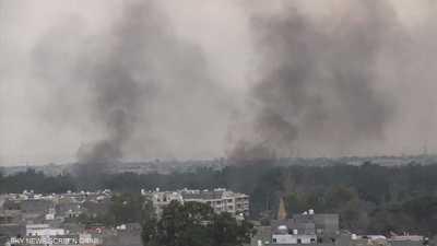 ميليشيات طرابلس تقصف الأحياء السكنية المحيطة بمطار العاصمة