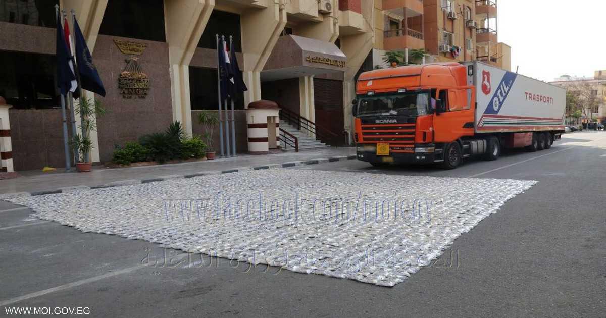 مصر تحبط تهريب شحنة مخدرات بـ144 مليون جنيه   أخبار سكاي نيوز عربية