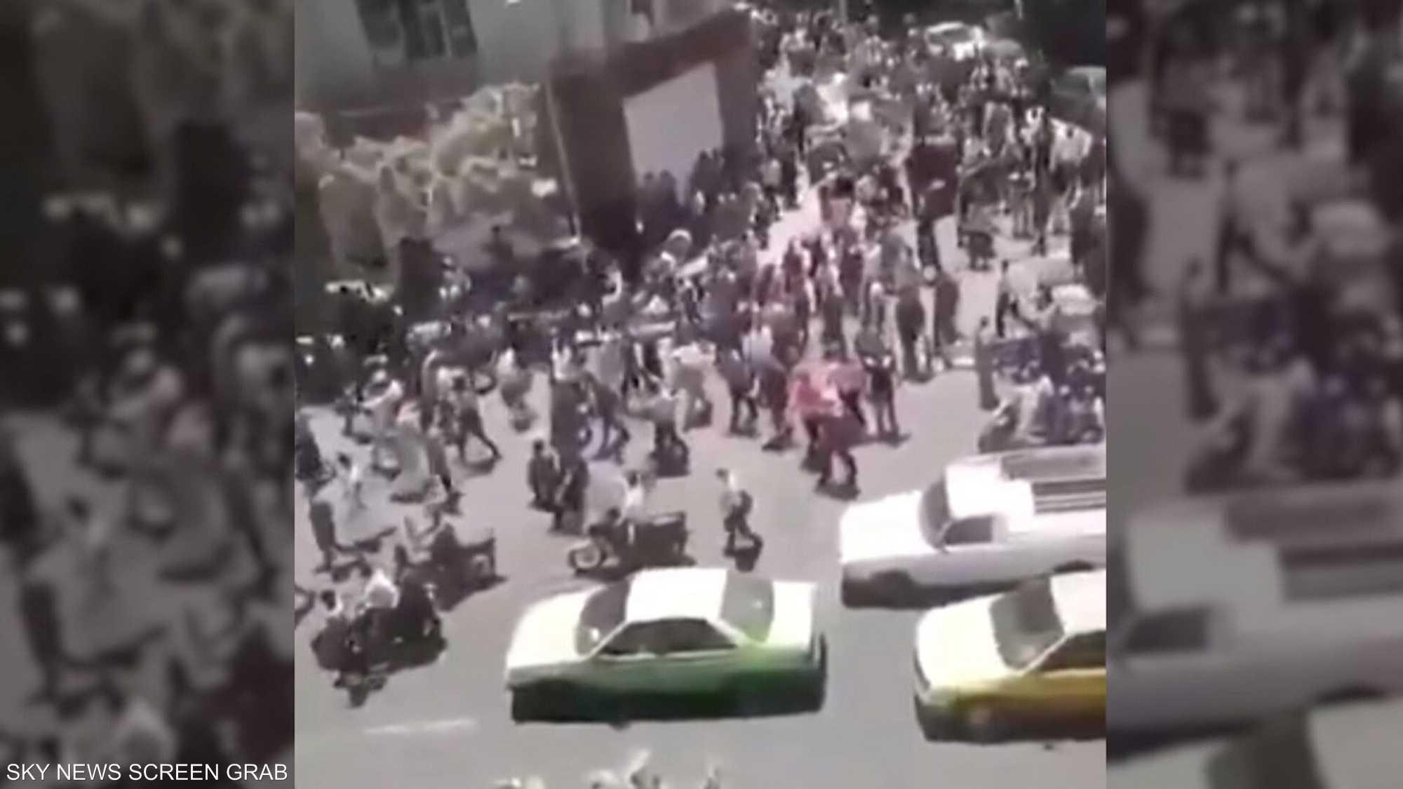 مسيرات احتجاجية في كازرون الإيرانية