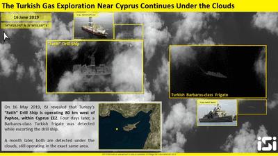 صور الأقمار الصناعية تكشف ما تفعله تركيا في مياه المتوسط