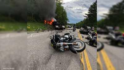 """شاحنة قاتلة و6 دراجات نارية.. صورة تجسد """"الحادث المأساوي"""""""