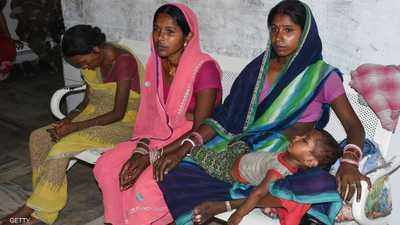 وفاة 129 طفلا بالتهاب الدماغ الحاد في بلدة هندية