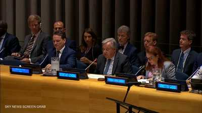 """غوتيريس يدعو لمواصلة جهود """"حل الدولتين"""""""