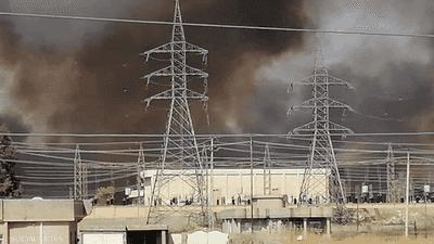 حريق في معمل كبريت جنوبي الموصل