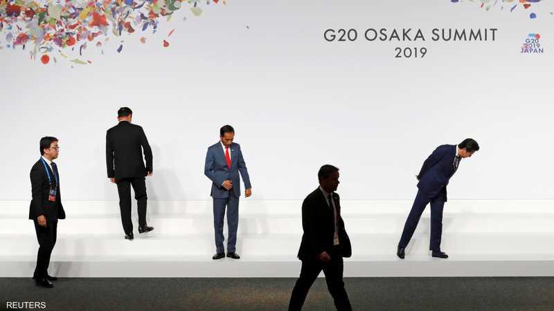 قادة في قمة العشرين يتفقدون أماكن وقوفهم