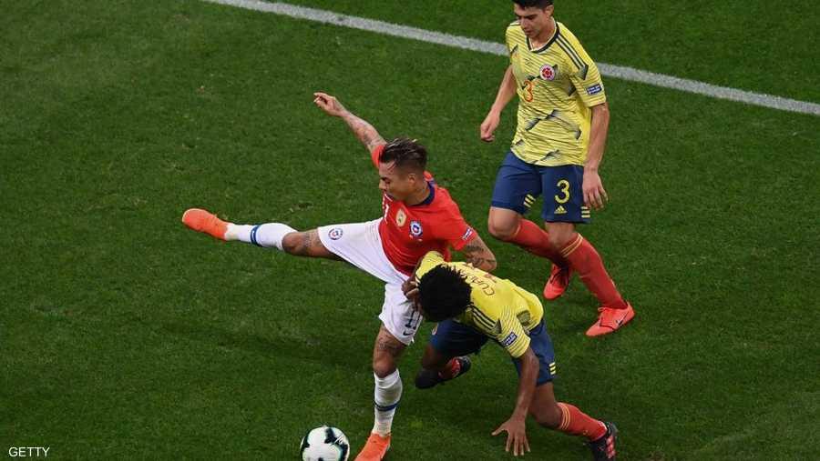 معركة كولوميا وشيلي انتهت بلا أهداف