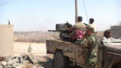 الجيش الليبي يسقط طائرة حربية قصفت ترهونة