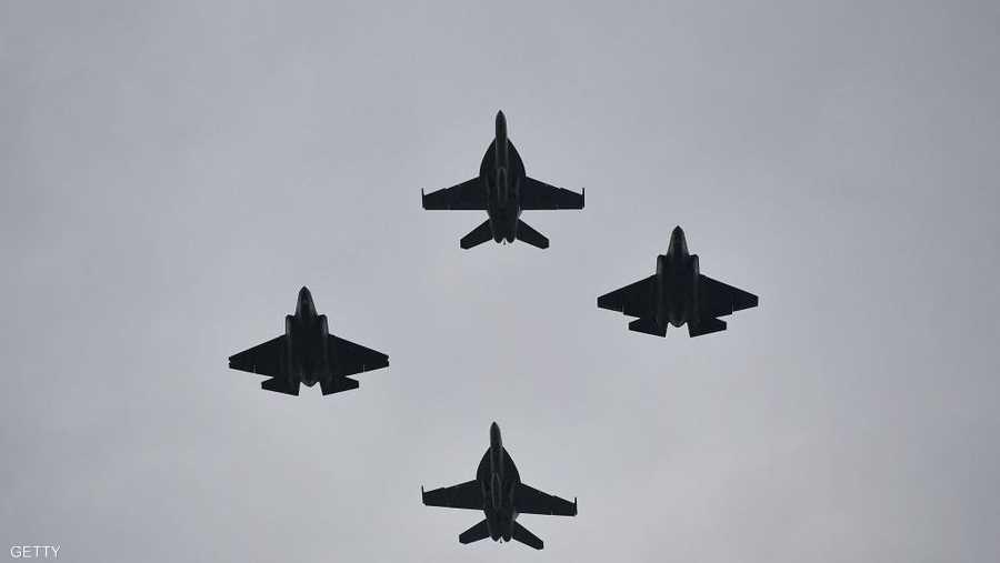 مقاتلات حديثة في سماء العاصمة الأميركية