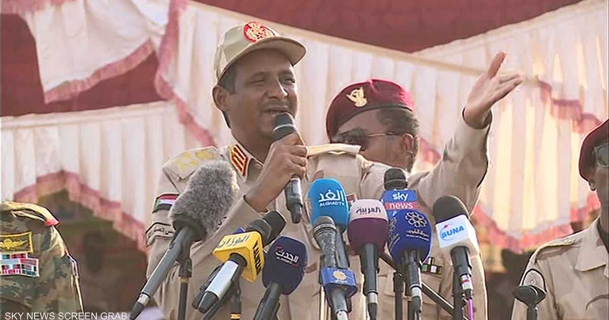 حميدتي: نسعى لإقامة دولة القانون لبدء مرحلة جديدة في السودان   أخبار سكاي نيوز عربية