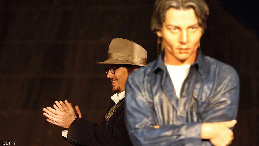 تمثال الممثل الأميركي، جوني ديب