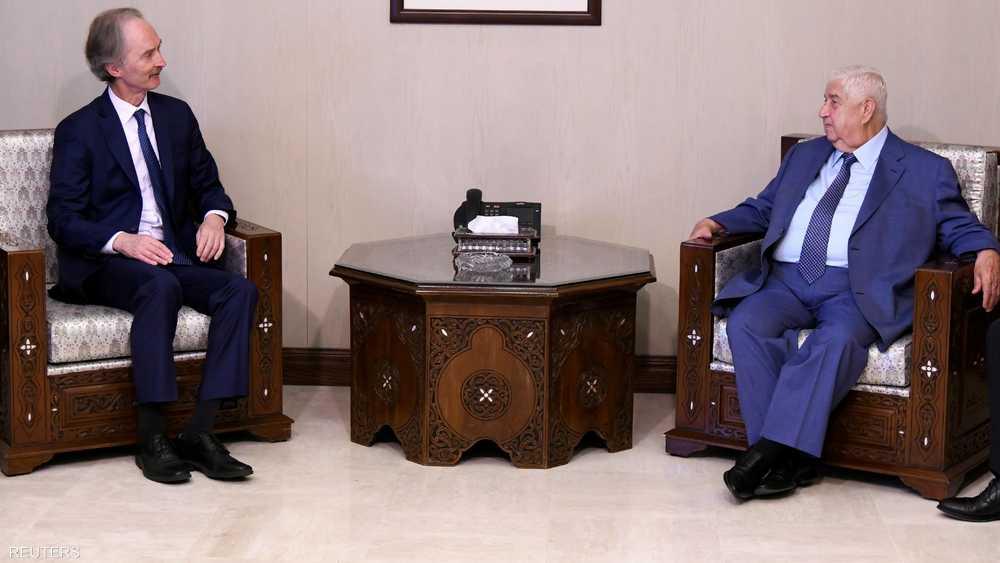 محادثات بين وزير الخارجية المعلم والمبعوث الأممي غير بيدرسون