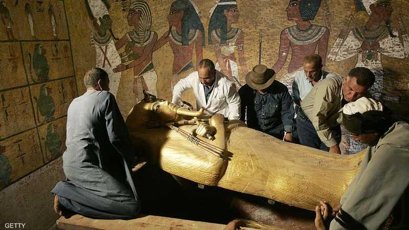 من داخل مقبرة توت عنخ آمون - أرشيف
