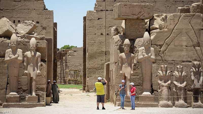 معبد الكرنك يقع في محافظة الأفصر بصعيد مصر.