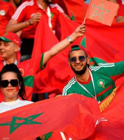 الجماهير المغربية احتفلت بانتصار الجزائر