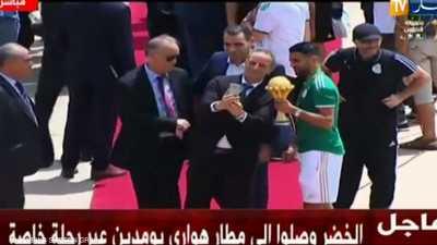 فيديو لاستقبال المنتخب الجزائري بعد فوزه بأمم أفريقيا