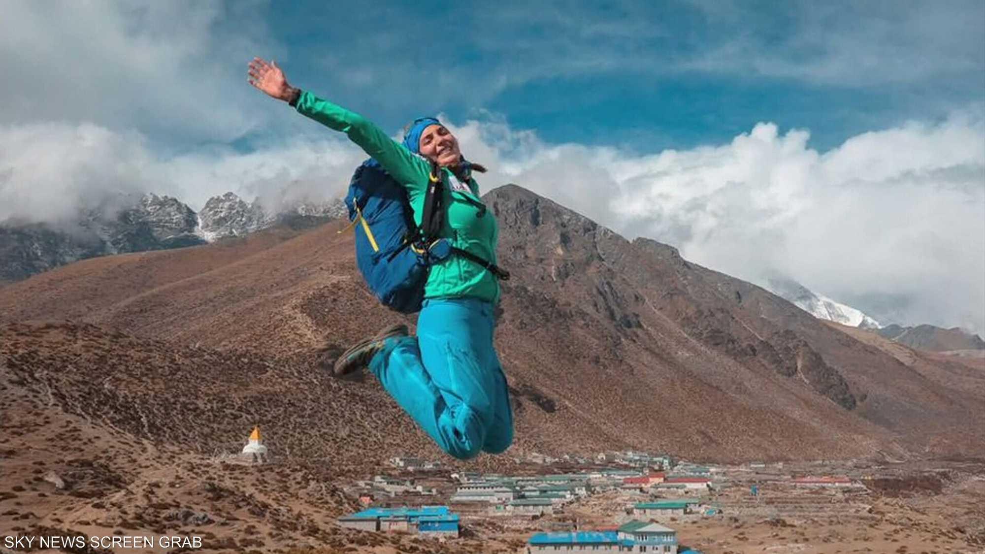 جويس عزام.. أول رياضية لبنانية تتسلق أعلى 7 قمم