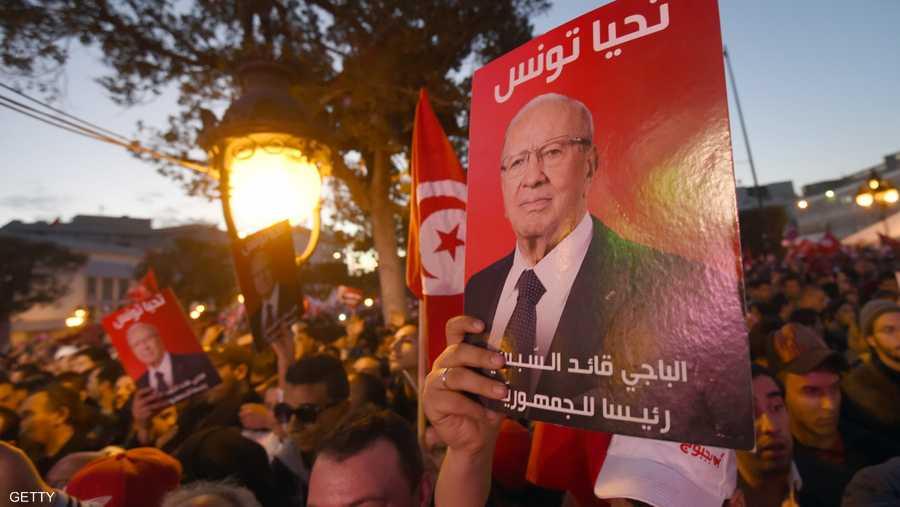 مناصرو السبسي ملأوا شوارع تونس في 2014