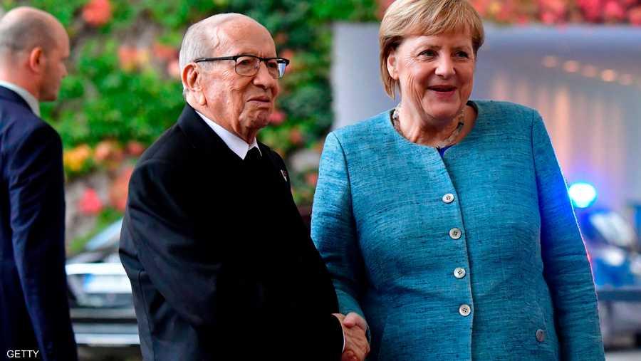 مع المستشارة الألمانية أنغيلا ميركل