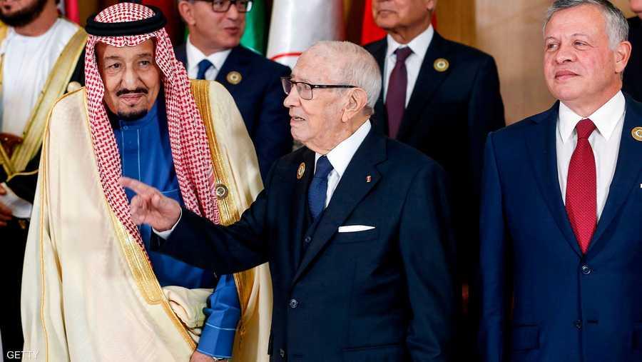 مع القادة العرب في القمة العربية