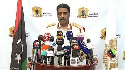 المتحدث ياسم الجيش الوطني الليبي اللواء حمد المسماري. أرشيف