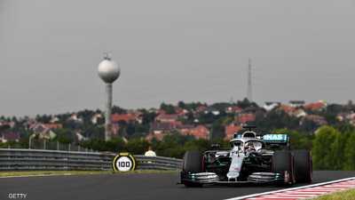 هاميلتون يتألق في التجارب الأولى لسباق جائزة المجر الكبرى
