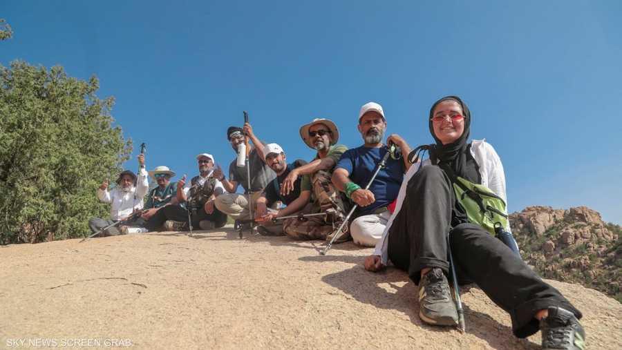 المشاركون في رحلات الاستكشاف بموسم الطائف