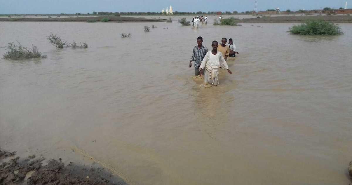 قتلى وإصابات وانهيار منازل بسبب السيول في السودان