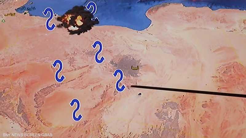 الجيش الليبي يشن 13 غارة على قاعدة مصراتة الجوية