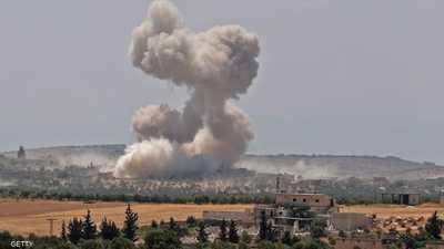 بالفيديو.. قتلى بغارة على رتل عسكري تركي في سوريا