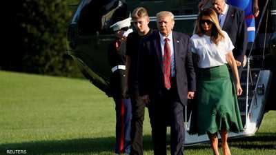 بارون ترامب أصبح أطول من والده خلال عامين