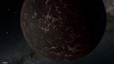 يعادل حجمه حوالي 1.3 حجم كوكب الأرض