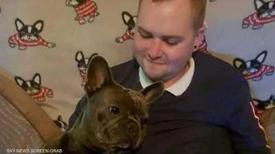 كلب مات بعد دقائق حزنا على وفاة صاحبه الشاب