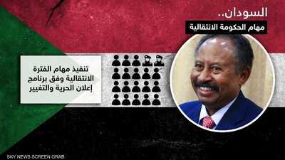 عبدالله حمدوك يبدأ مشاورات تشكيل حكومته