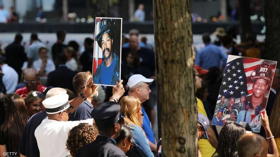 تجمع لأصدقاء وعوائل ضحايا هجمات سبتمبر الإرهابية إحياء للذكرى.