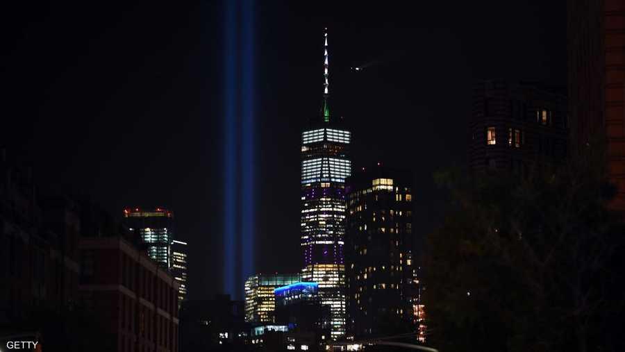 نيويورك ترتدي اللون الأزرق في الذكرى الثامنة عشرة للهجمات.