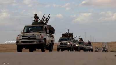 صورة أرشيفية لمدرعات تابعة للجيش الليبي