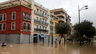السلطات أغلقت المدارس في منطقة فالينسيا