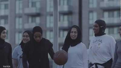 """ناد عالمي للسلة يطلق """"حجابا رياضيا"""" يحمل شعاره"""