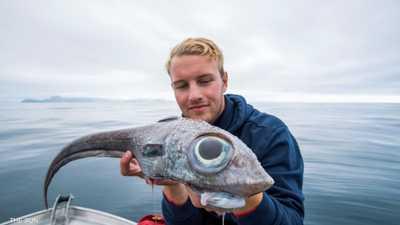 """نرويجي يفعلها ويصطاد """"السمكة الديناصور"""""""