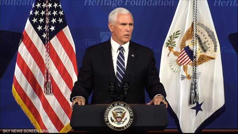 بنس: واشنطن مستعدة للدفاع عن حلفائها بالشرق الأوسط